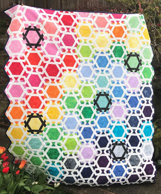 Snood quilt by Emily Cier, Carolina Patchworks, for Timeless Treasures