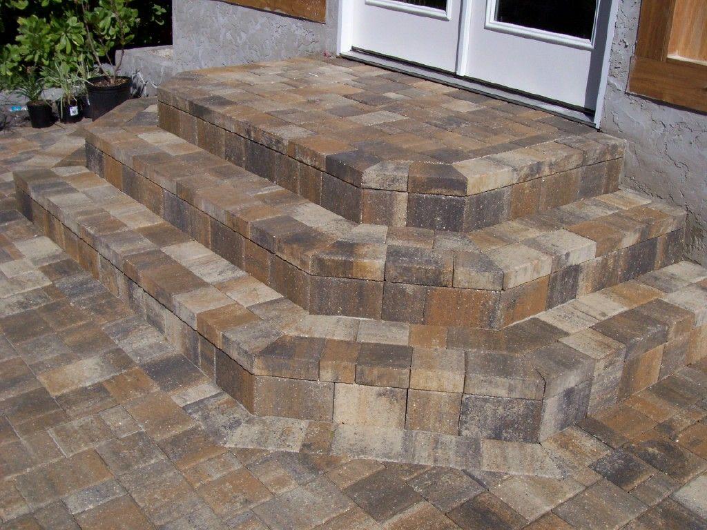 Cream Beige Charcoal Brick Paver Step Unit Don T Just