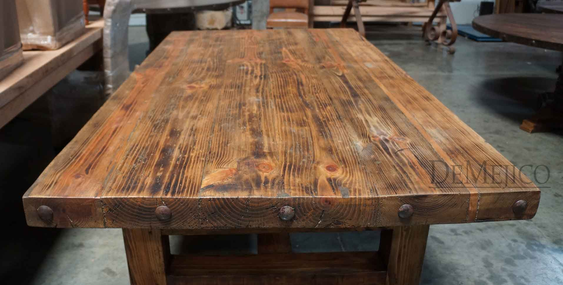 Old wood table demejicodemejico tables pinterest for Wooden table designs images