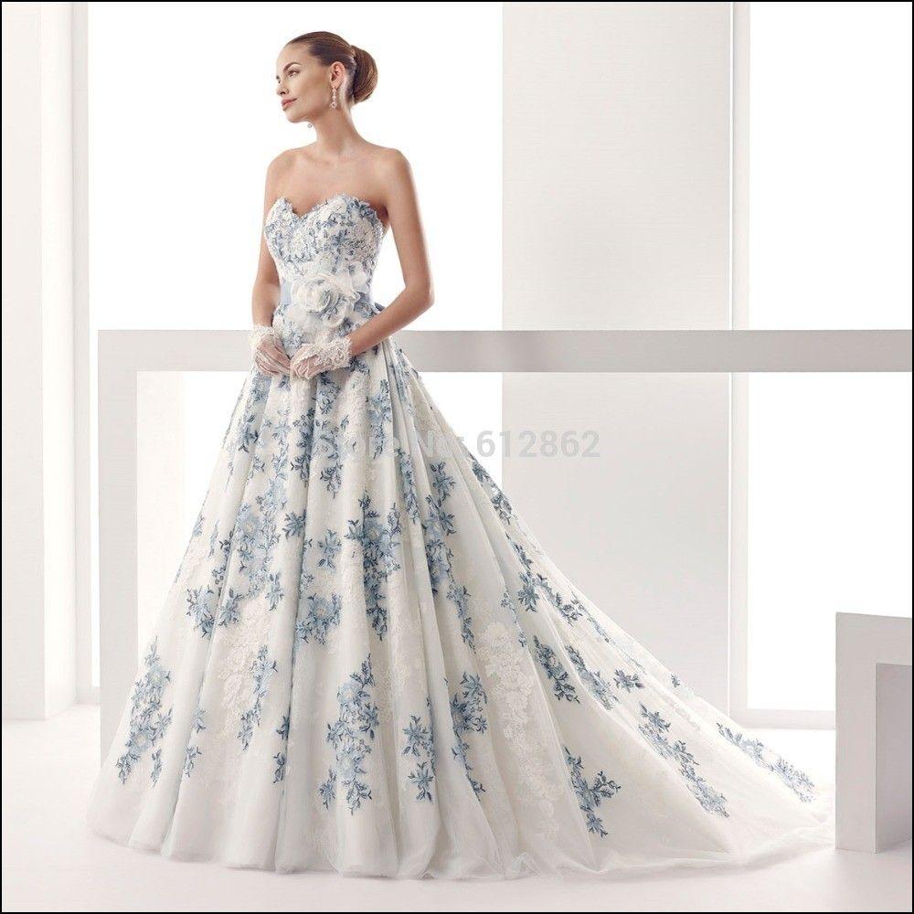 White wedding dress with blue lace wedding ideas pinterest