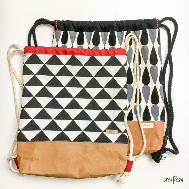 Coser bolsas de gimnasia – patrones e instrucciones gratuitos  – Bolsa
