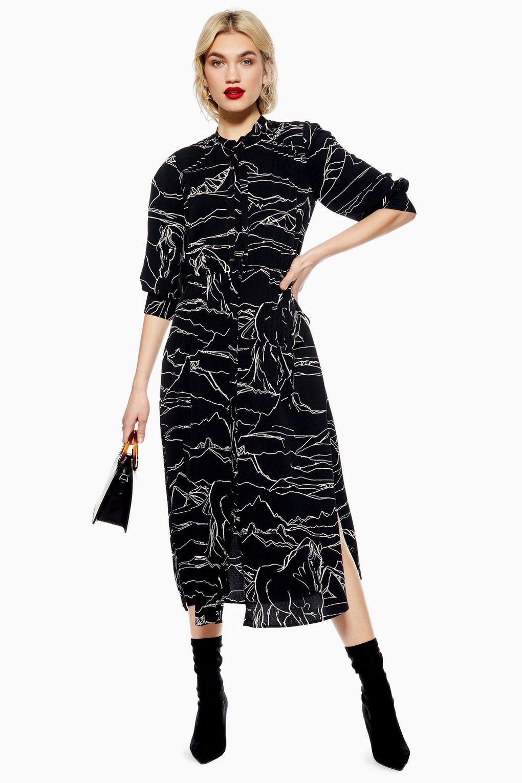 f452c4f46454 Horse Print Midi Shirt Dress in 2019   dresses   Midi shirt dress ...