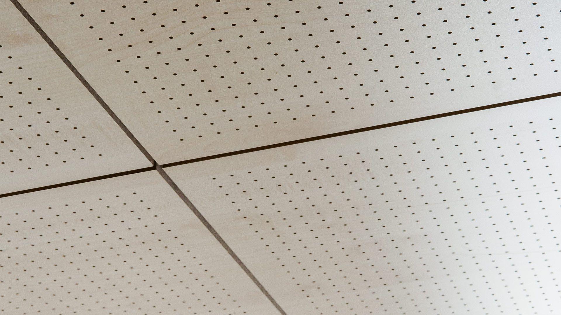 Falso Techo Acustico De Mdf Tipo Panel En Losa 60 X 120 Fantoni Faux Plafond Faux Plafond Suspendu Plafond Suspendu