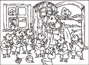 Maerchen Rumpelstilzchen 10 Der Wolf Und Die 7 Geissleinkl M