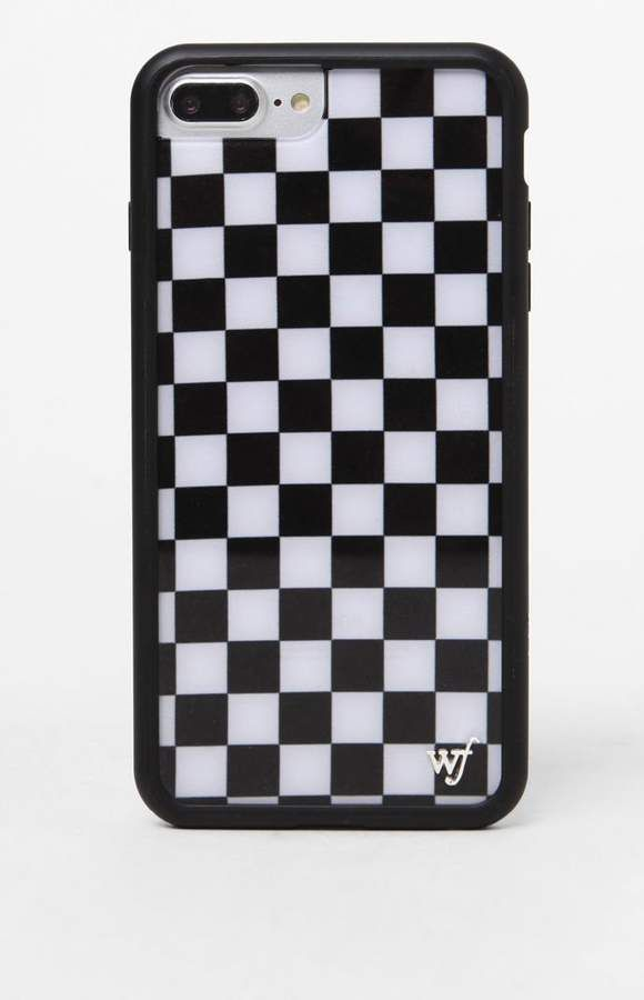 save off ba4d6 16392 ad. Wildflower Black Checkers 6/7/8 Plus iPhone Case | Phone Cases ...