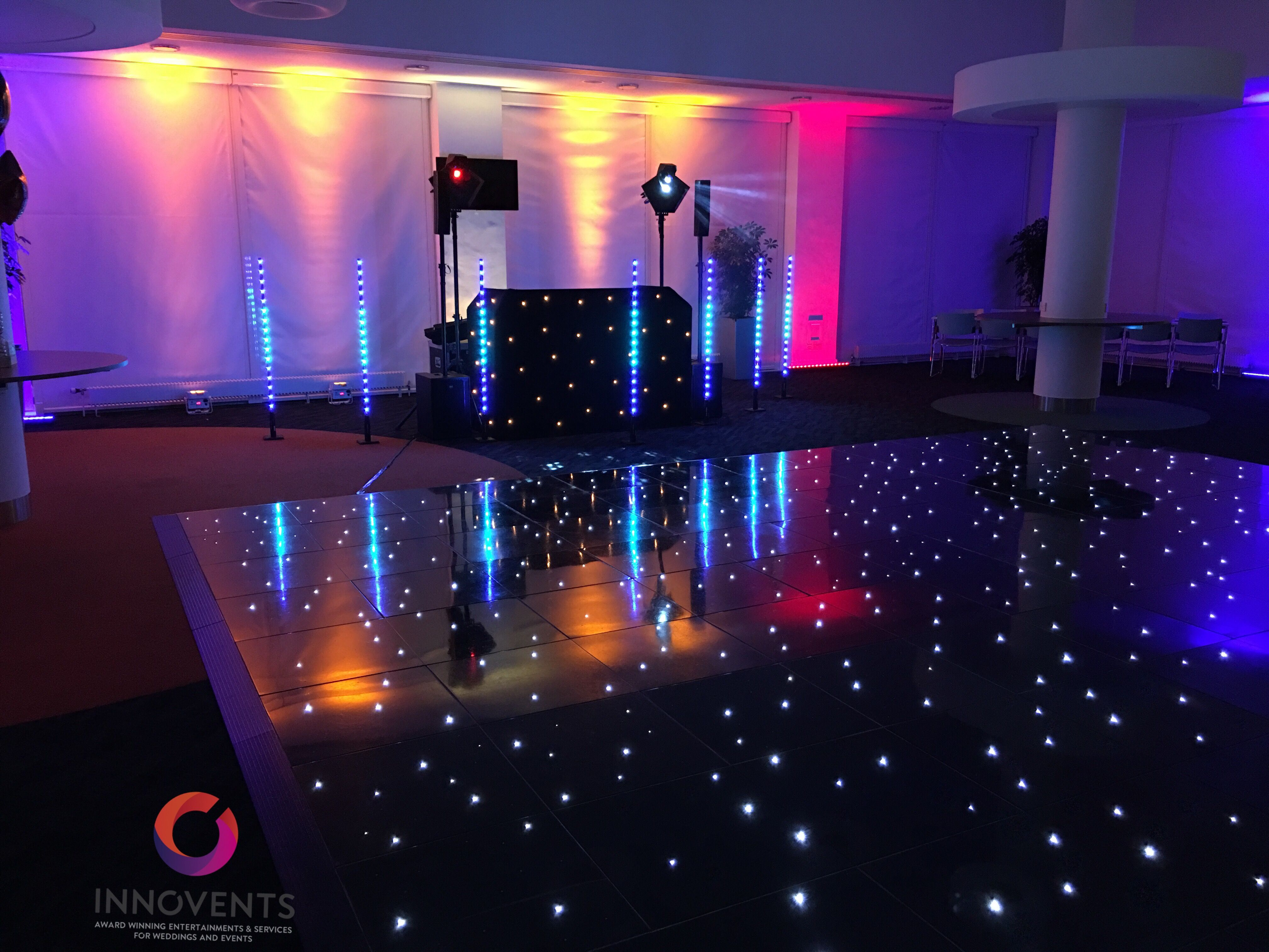 A Lovely Set Up For A Christmas Corporate Party Where We Provided The Disco Dance Floor And Lighting Led Dance Wedding Dj Dance Floor