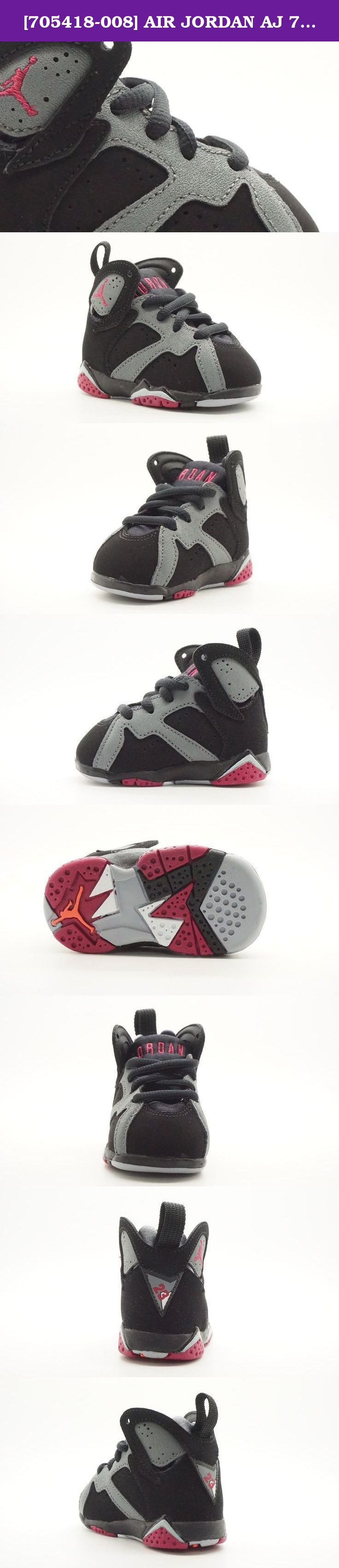 sale retailer 3d53c 79f63  705418-008  AIR JORDAN AJ 7 RETRO GT TD TODDLERS SNEAKERS AIR JORDANBLACK  SPRT FCHS CL GRY WLFM. Jordan Little Kids AJ 7 Retro GT (black   sport  fuchsia ...