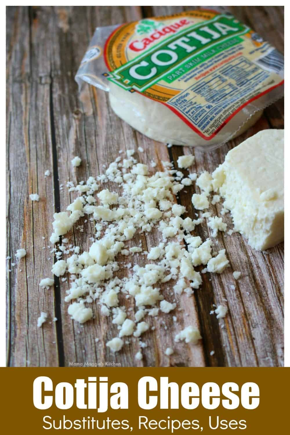 Cotija Is A Salty And Crumbly Mexican Cheese It Makes A Perfect Topping For Tacos Enchiladas And More By Mama Ma Cotija Cheese Mexican Food Recipes Recipes