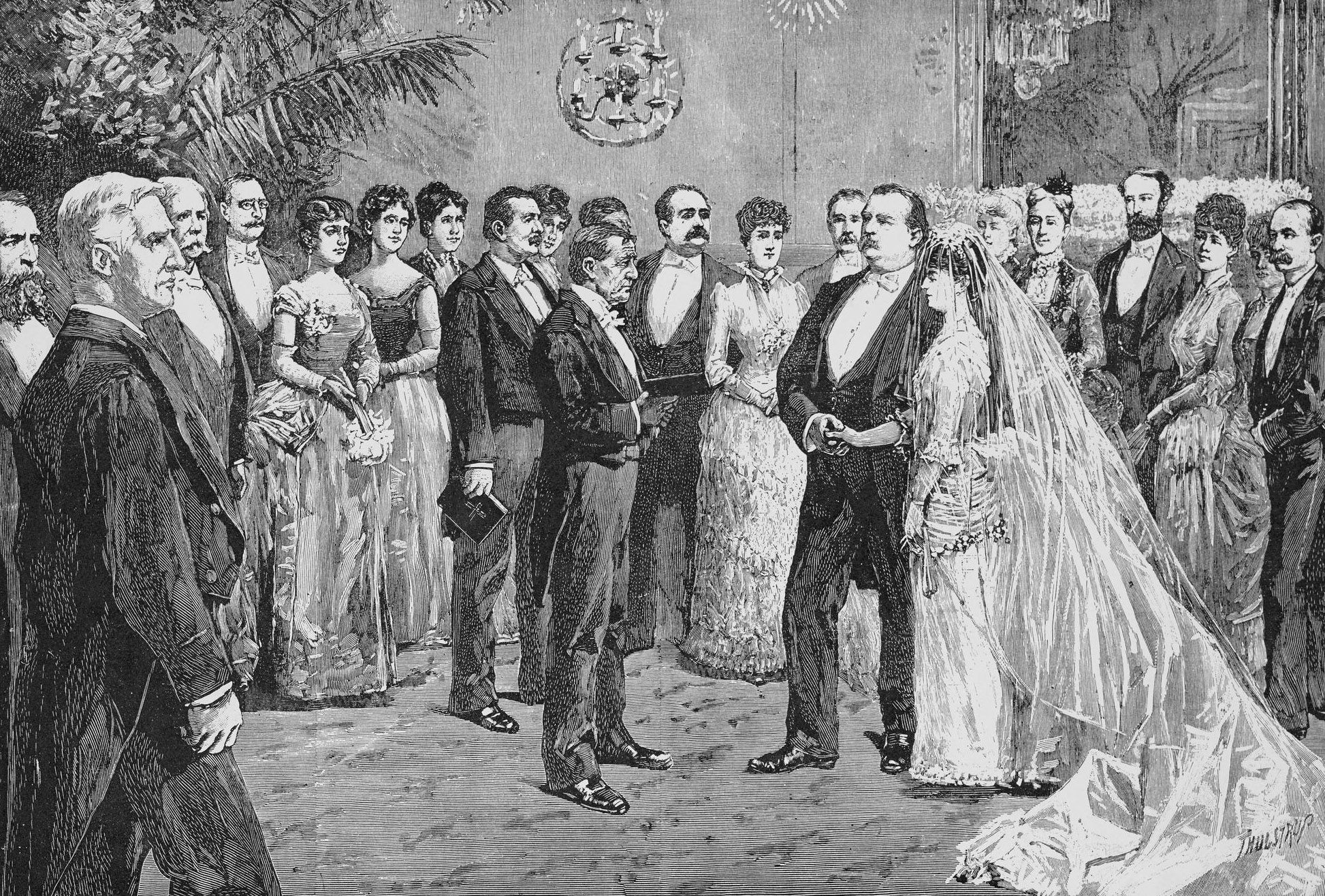 The Ceremony At Grover Cleveland S Marriage Ca 1886 In 2020 Cleveland Wedding Grover Cleveland Female Pictures