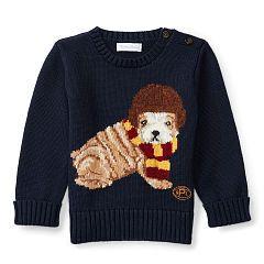 514b00f470d6 Dog Cotton-Blend Sweater - Baby Boy Sweaters - RalphLauren.com ...