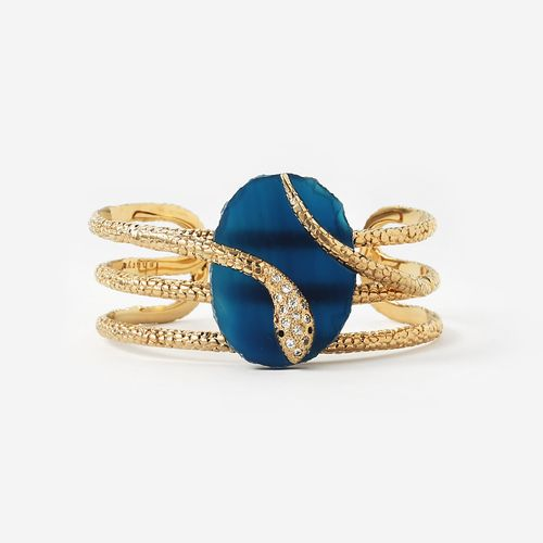 Blue Serpent Druzy Wire Cuff by Isharya Jewelry. cuff bracelet, bangles indian, bangles and bracelets