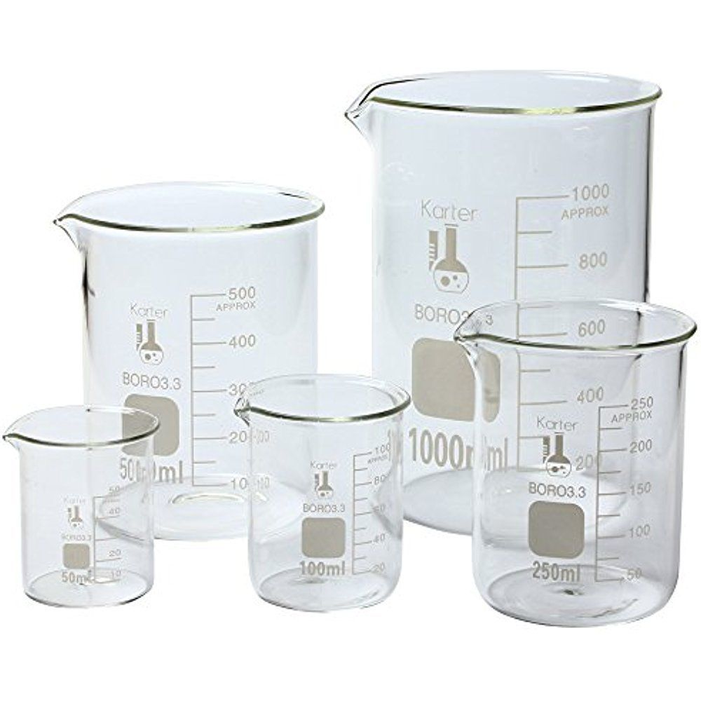 Karter Scientific 213A2 Borosilicate Glass Low Form Beaker