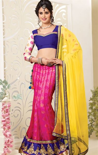 Picture of Marvelous Pink Color Net Wedding Choli