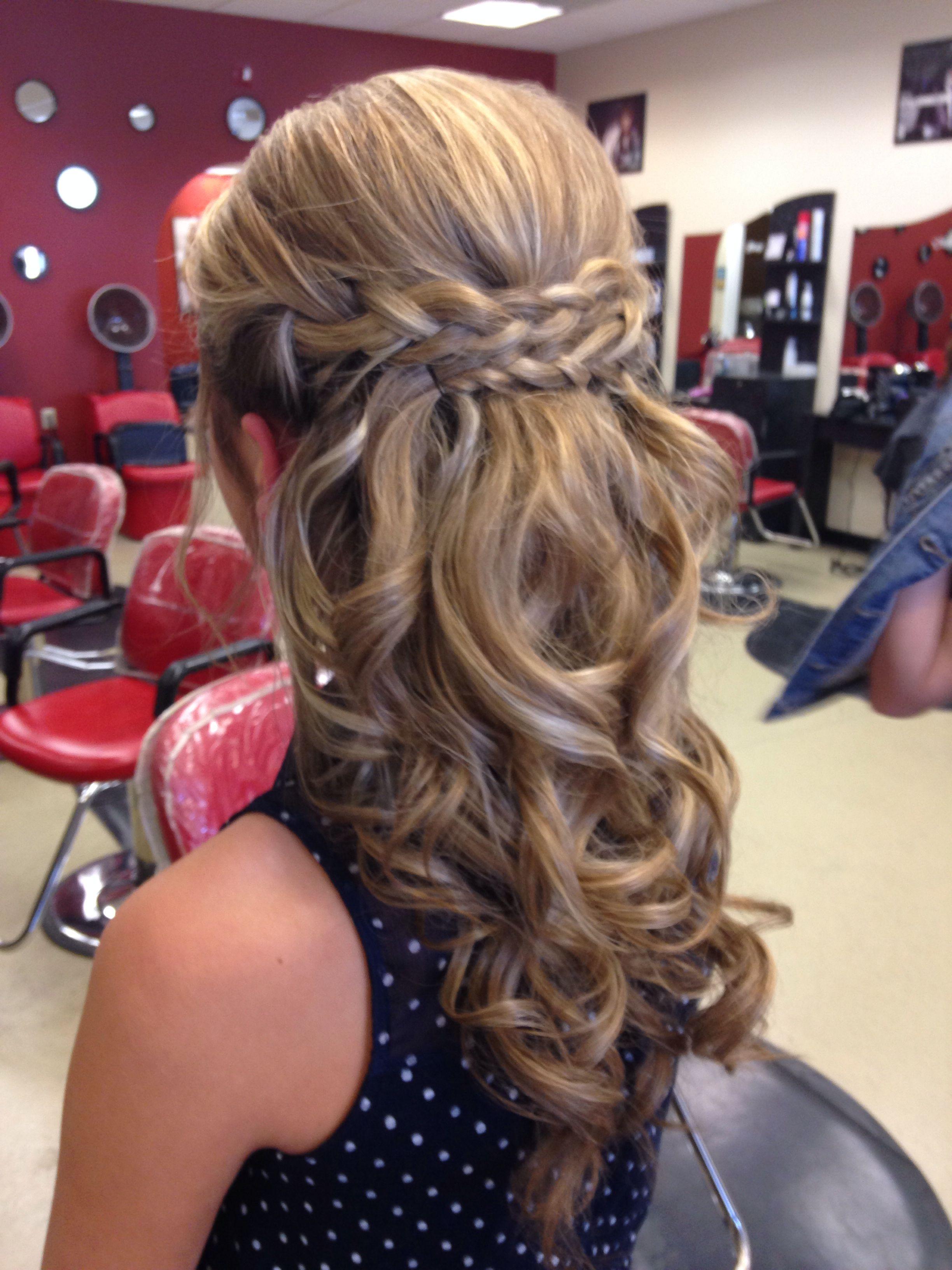 super cute hairdo that was done for a semi formal!   braids