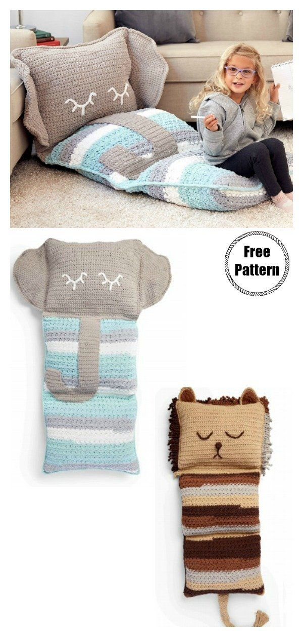 Motif de crochet gratuit pour oreiller de sol amusant – Cool Creativities   – crochet patterns