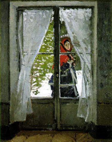 붉은 케이프, 마담 모네(1873)  Monet