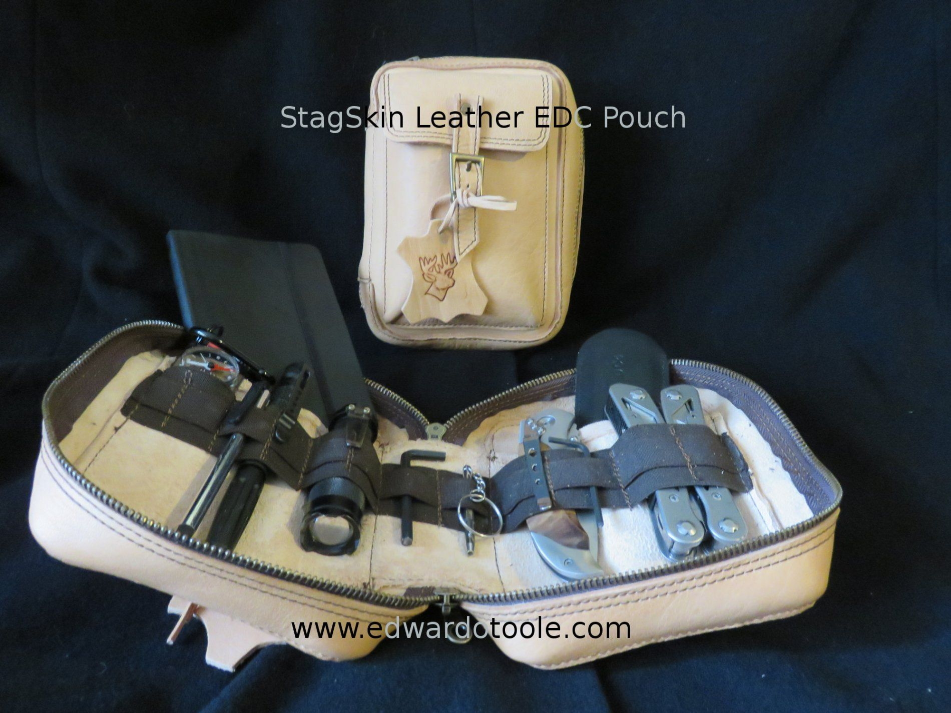 The StagSkin Leather EDC Pouch. In the boardroom or in the bush. Practical. Natural. Dapper. For when you grow out of mass-produced made-in-Asia nylon pouches. http://www.edwardotoole.com/stagskin_edc.html