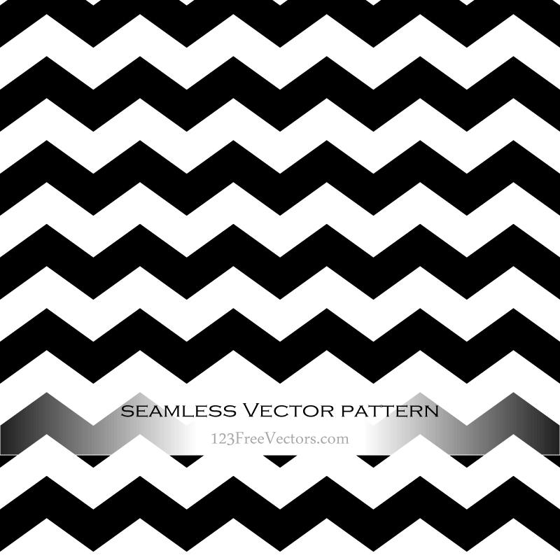 Black And White Zig Zag Background Background Patterns Adobe Illustrator Pattern Vector Free