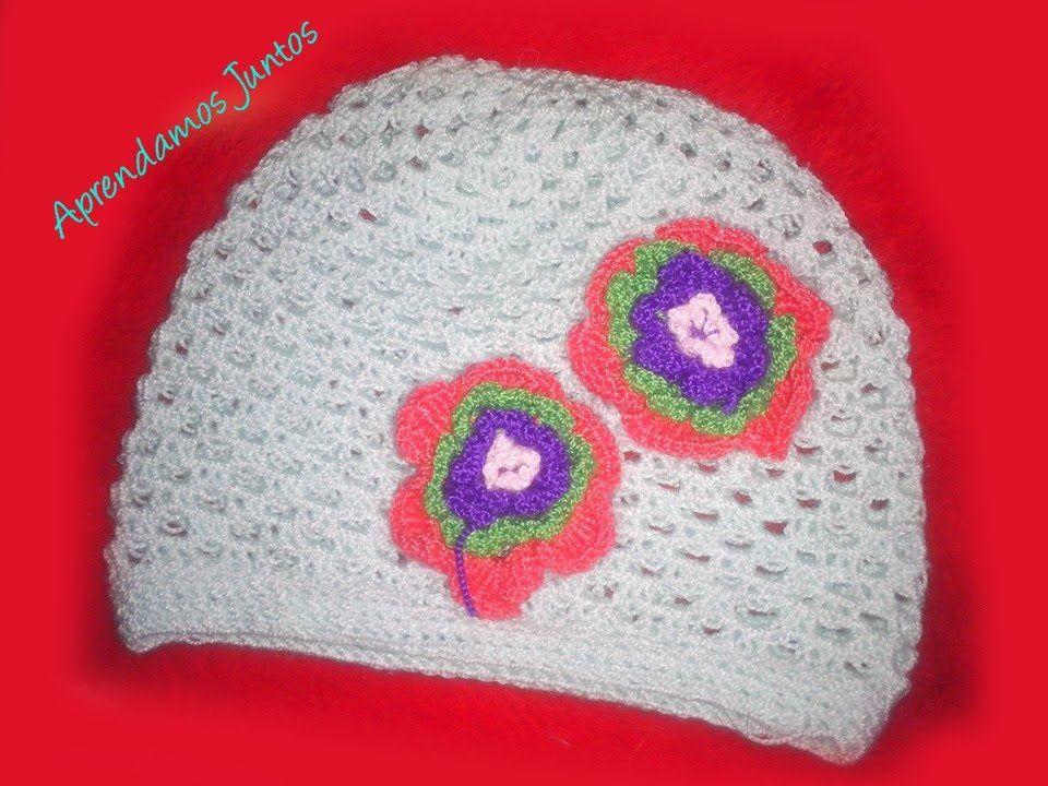 a89a0f2347b Como Tejer Un Gorro Para Niña En Crochet facil