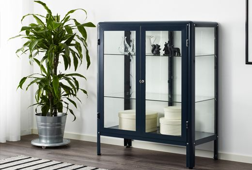 Ikea Fabrikor Display Cabinet In Blue Small Living Rooms Small
