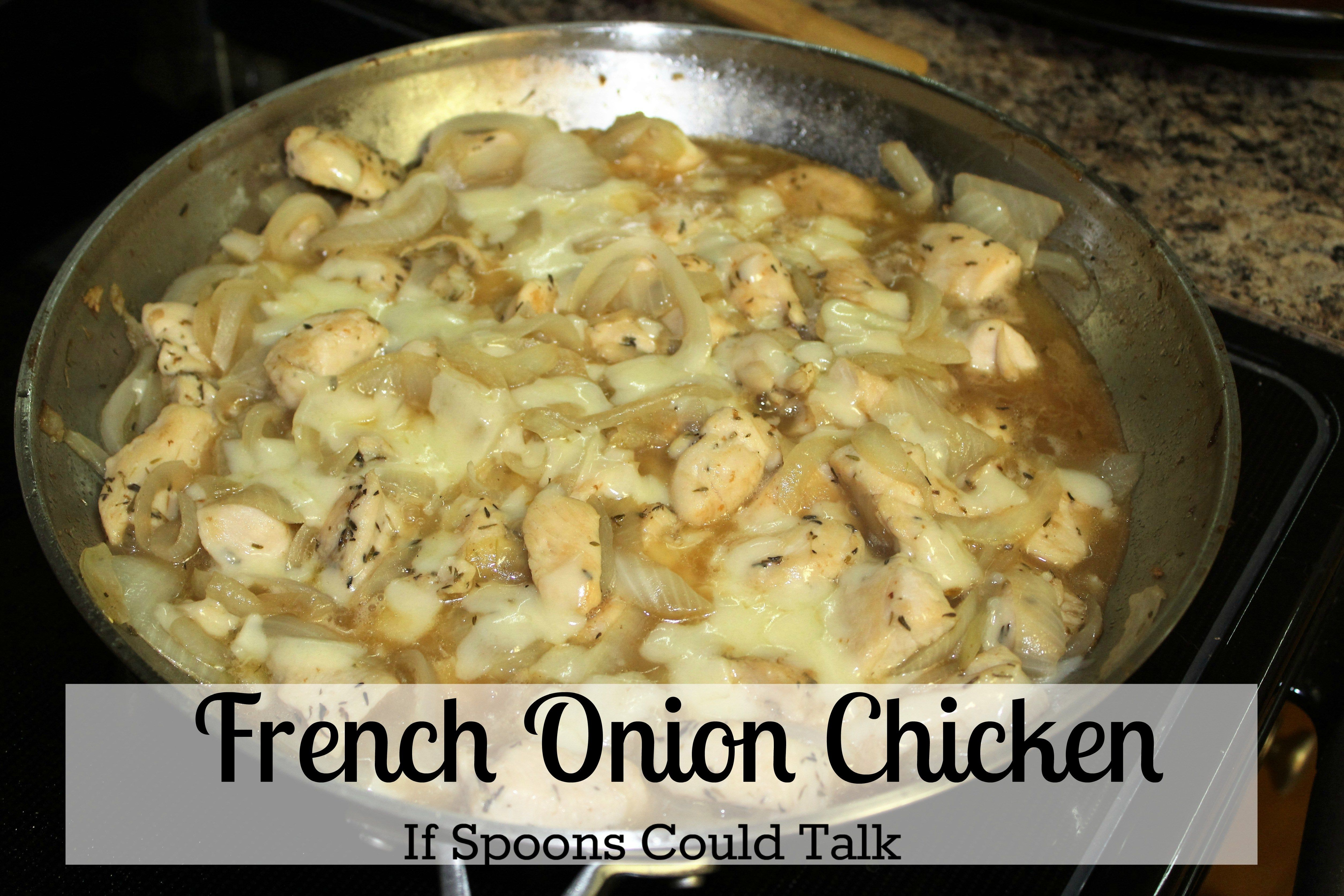 French onion soup in chicken form easy weeknight meal top food all the goodness of a bowl of french onion soup in an easy chicken skillet dish find this pin and more on top food bloggers on pinterest forumfinder Image collections