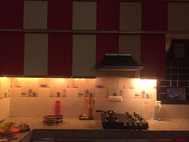 This string lights idea takes just 20 minutes to do but itll make you smile whenever you walk into your kitchen