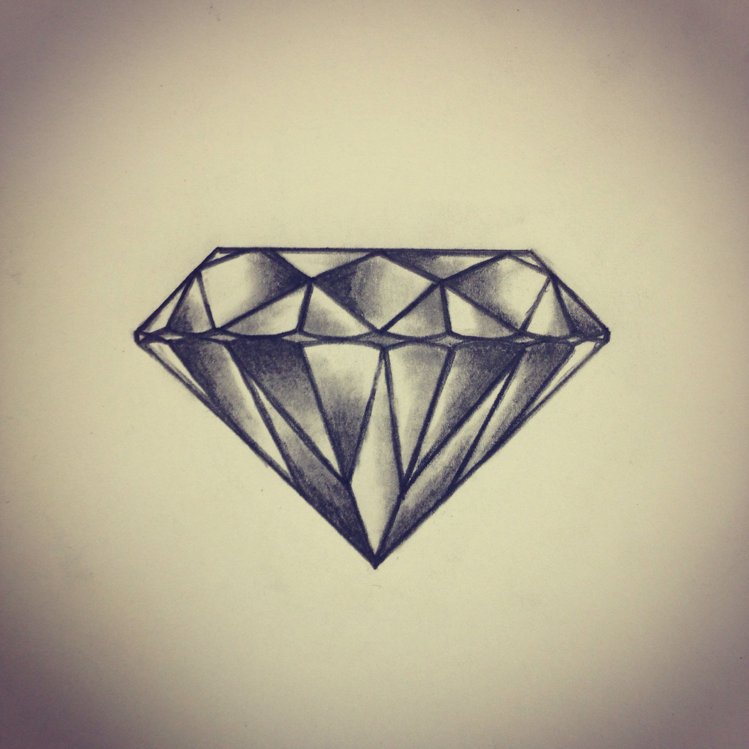 diamond tattoo sketch drawing by ranz i think i 39 d want one simpler fewer facets but i. Black Bedroom Furniture Sets. Home Design Ideas