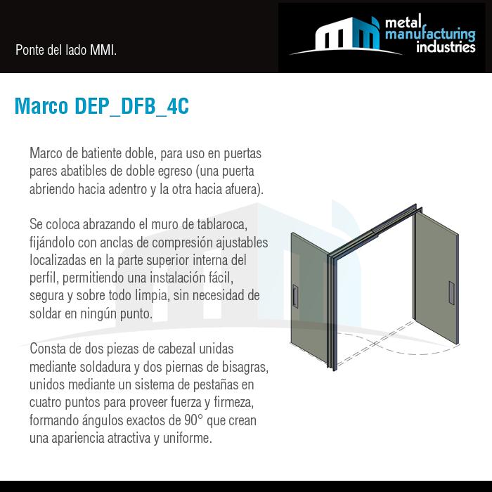Te presentamos nuestro Marco DEP_DFB_4C de batiente doble, para uso ...