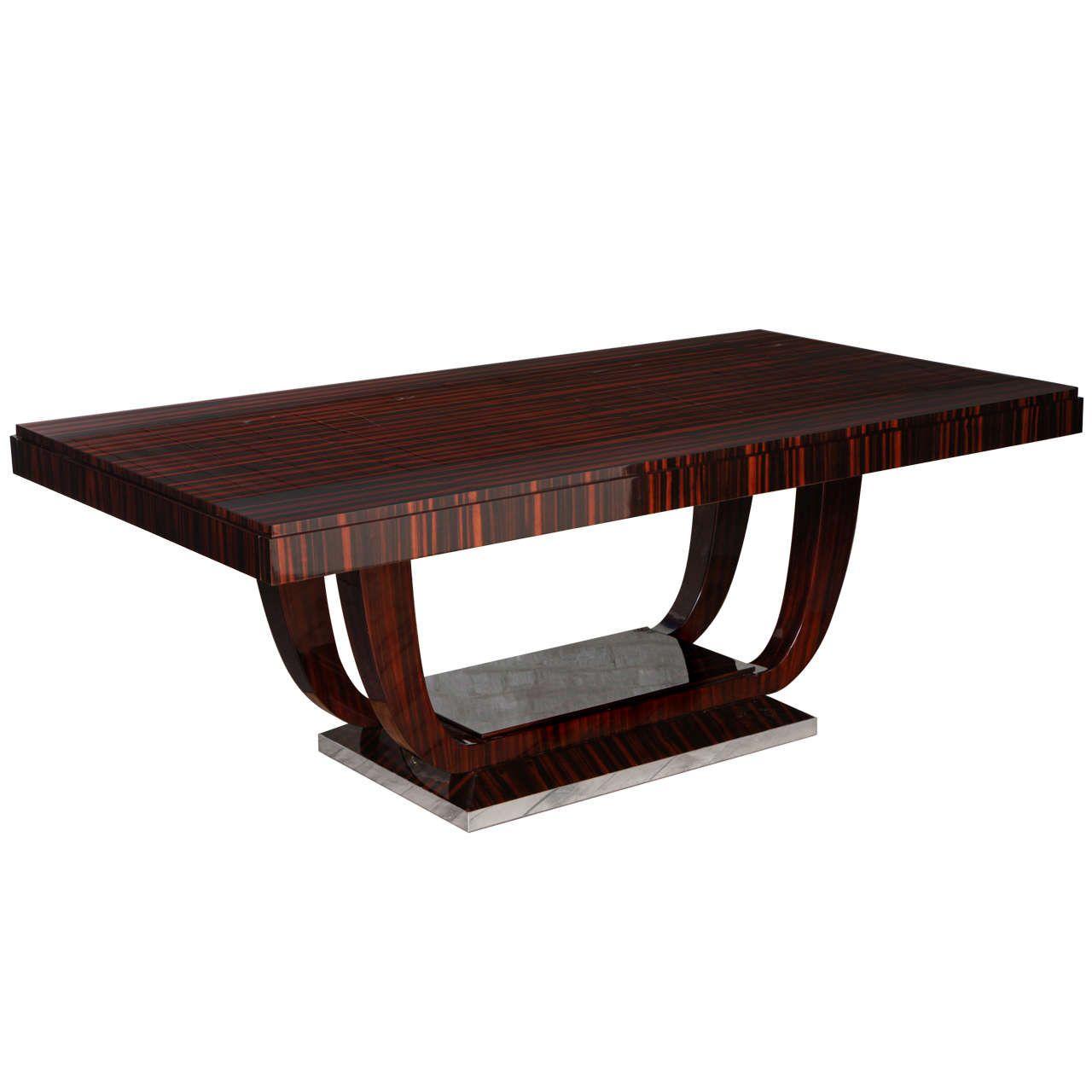 Modern Furniture 2014 Clever Furniture Arrangement Tips: Elegant Art Deco Dining Table