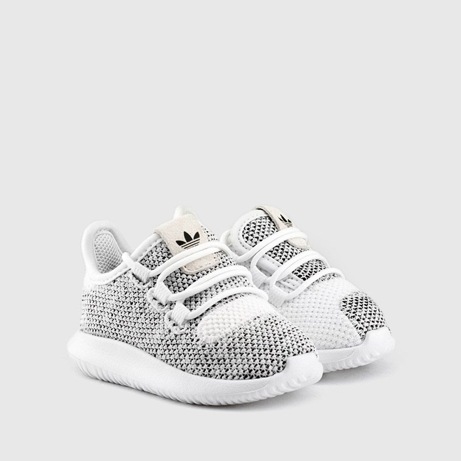 5a5cd4fc14f2a adidas - Toddler Tubular Shadow Knit (White