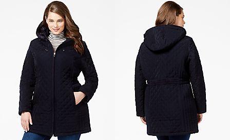 Laundry By Design Plus Size Faux Fur Lined Quilted Velour Coat Plus Size Coats Coat Coats For Women