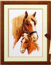 Horse and Foal Cross Stitch Kit