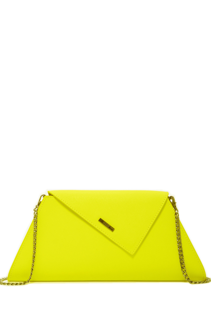 f712fa26264b Angelica electric yellow clutch in 2019 | Unique Leather Clutch ...