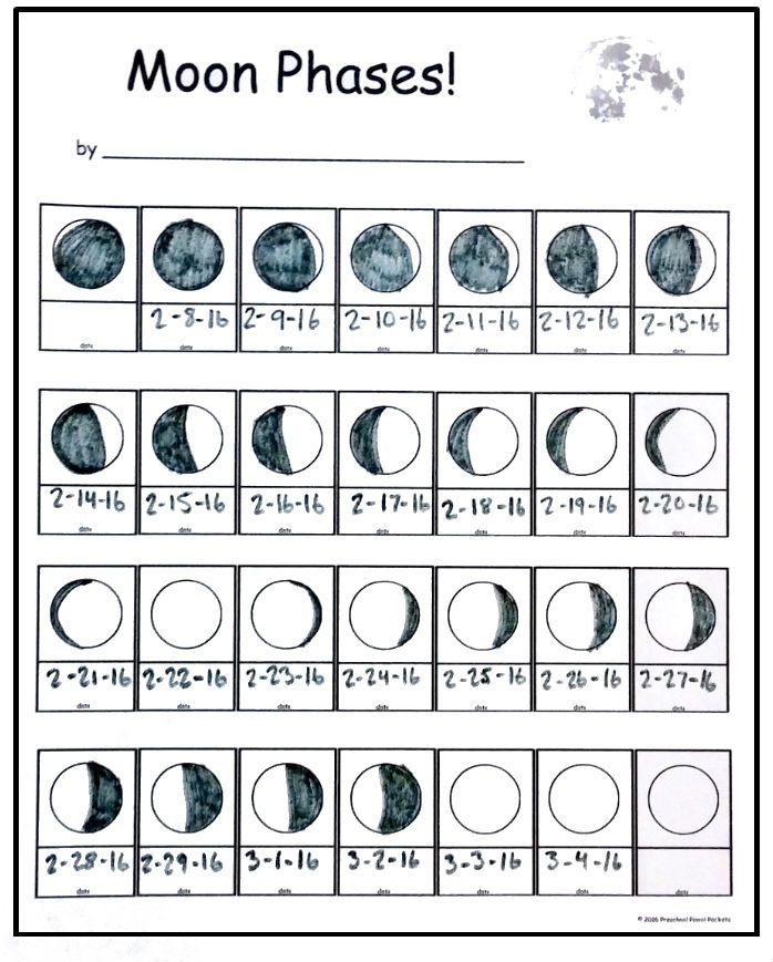 Free Moon Phase Tracking Printable Moon Phases Moon Phase Calendar Moon Phase Lessons