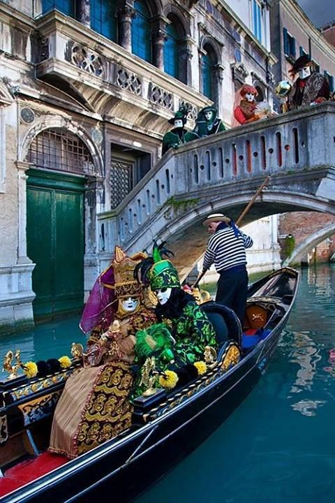 The famous carneval celebrating at Venice. Been there!