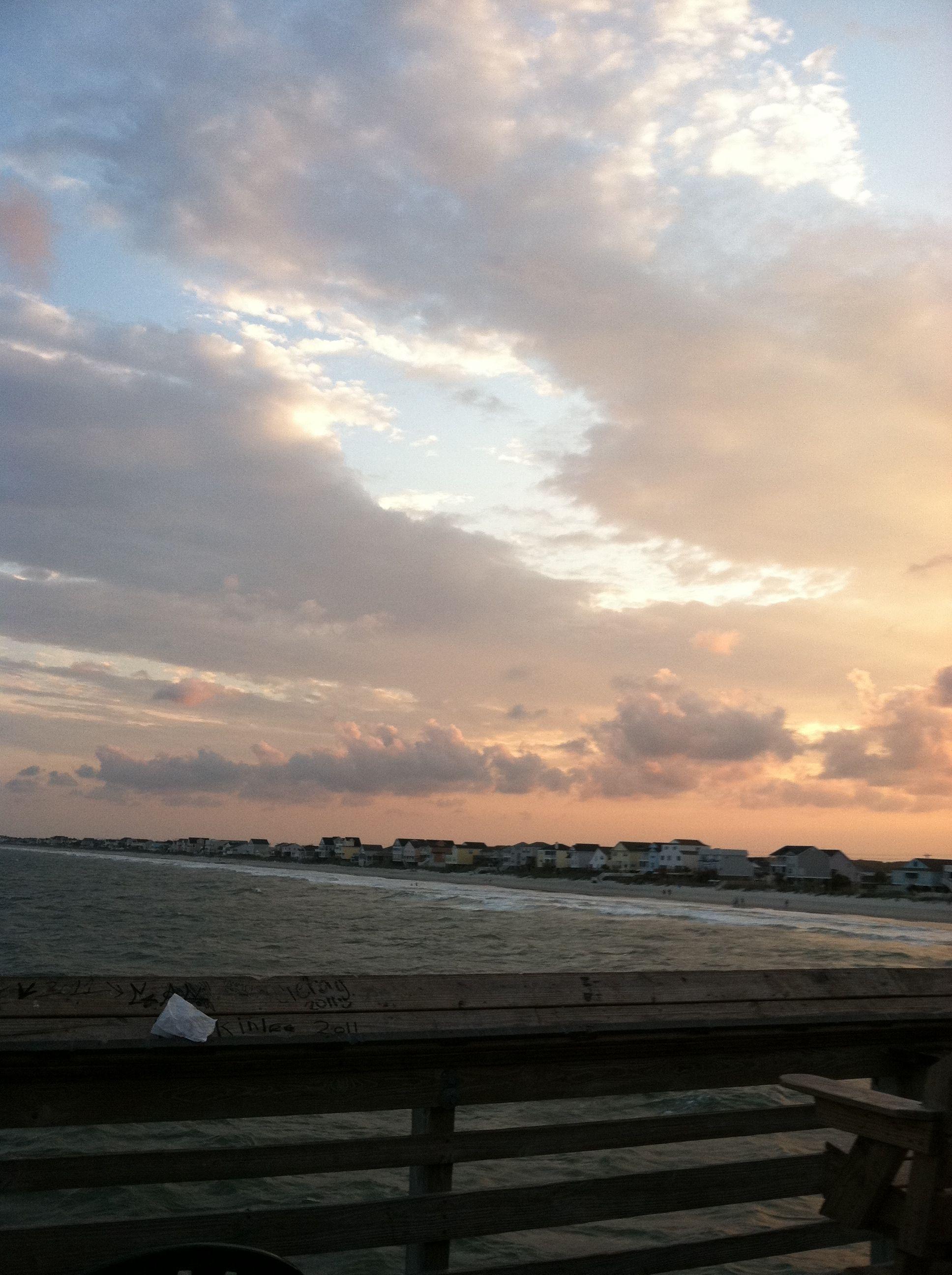The sky at sunset, Surfside SC