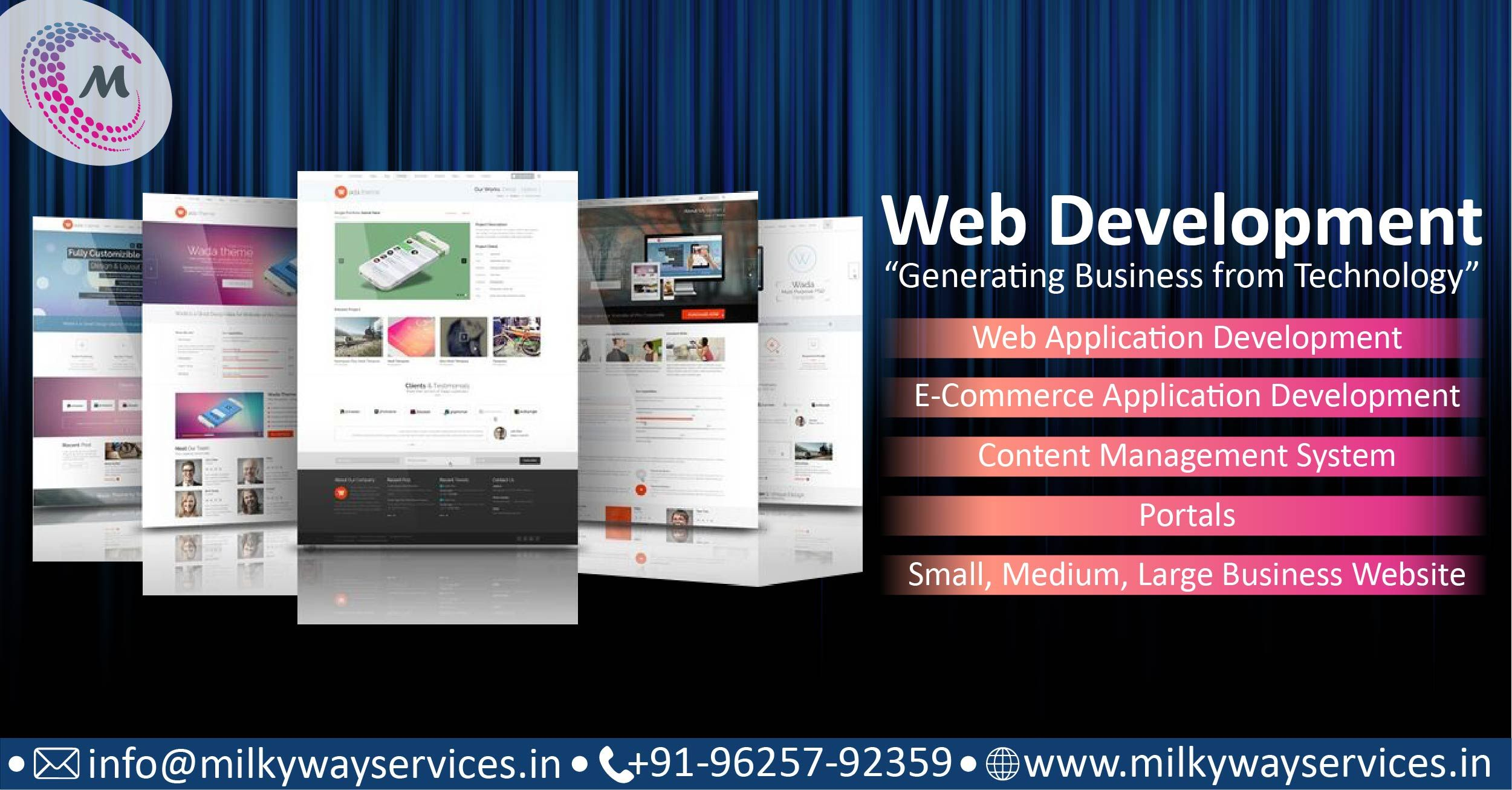 Web Development Generating Business From Technology Web Design Company Web Design Email Template Design