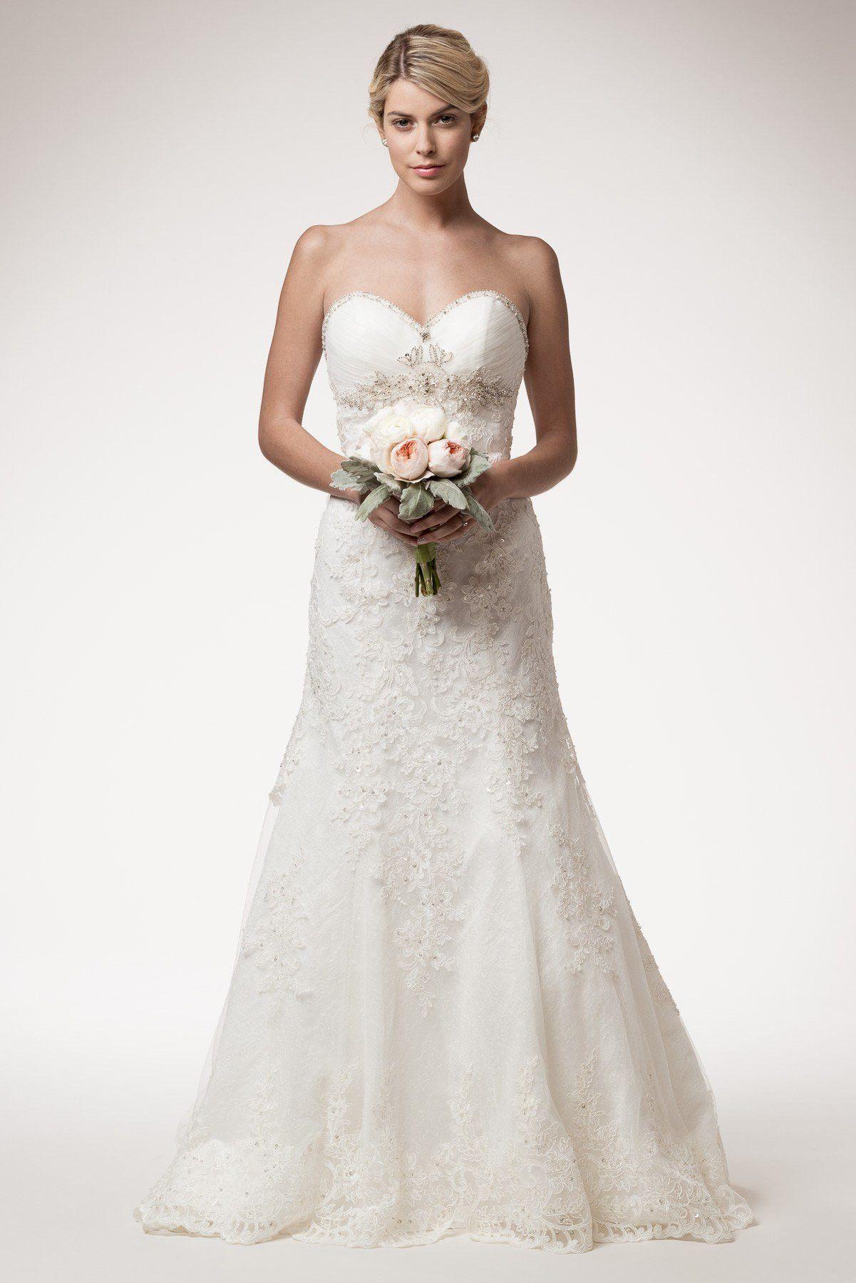 strapless lace a line wedding dress 106-hcw160111 Wedding Dress ...