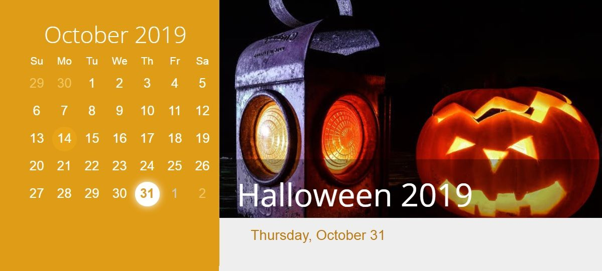 Halloween 2019.October 2019 Halloween Calendar Hd Calendar 2018 October