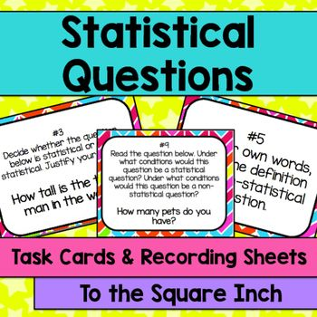 Statistical Questions Task Cards   Activities, Other and ...