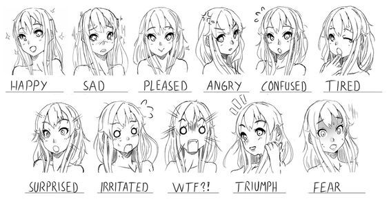 76 Face And Expression References Ideas Drawings Drawing Tutorial Face Drawing