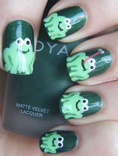 Easy farm animals nail art designs frog nails nails easy farm animals nail art designs frog nails prinsesfo Images
