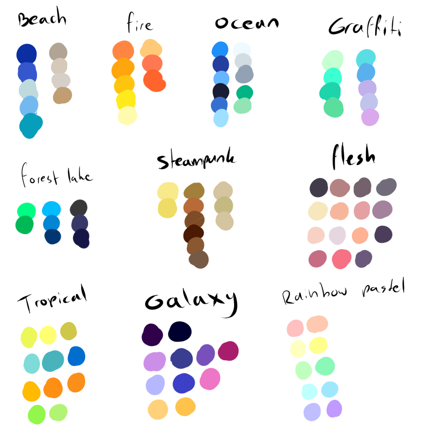 Some Color Pallettes I Put Together For Your Use C Hope It May Help Some Some Tips Beach Goes Best With Natural Free To Use Color Pallettes