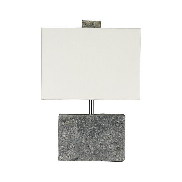 Orda Slate Table Lamp Reviews Crate And Barrel Grey Table