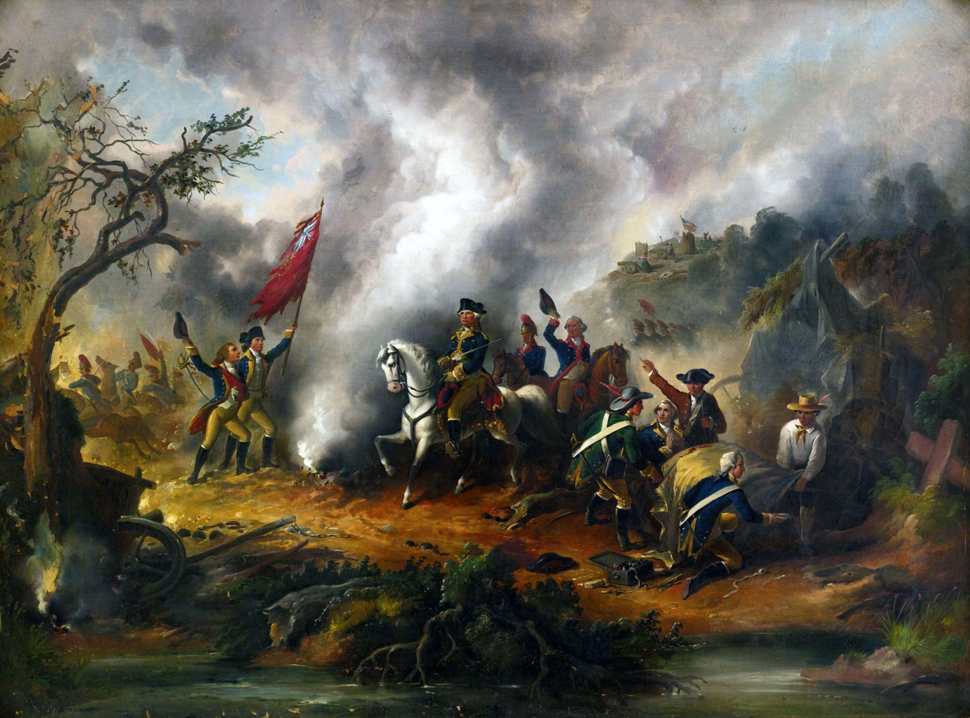George Washington In Battle