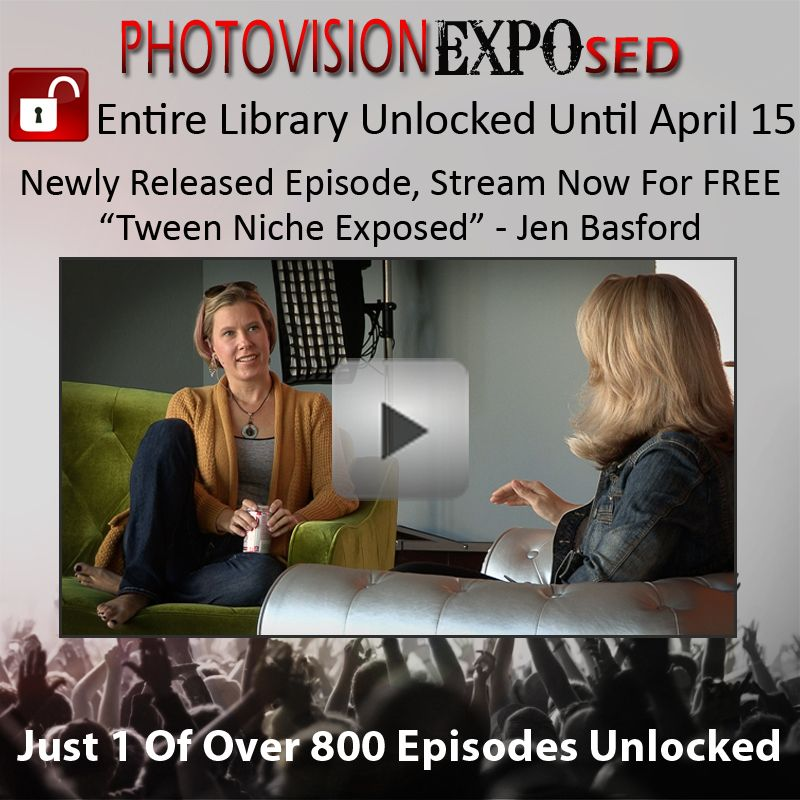 A NEW EPISODE is now live featuring Jen Basford and the #Tween Niche EXPOsed : http://bit.ly/1e94XR9   Jen Basford sits down with our correspondent, Julia Kelleher, to discuss her blossoming tween market. Don't miss over 800+ episodes on #PhotoVision now -- FREE until April 15th! www.PhotoVisionVideo.com