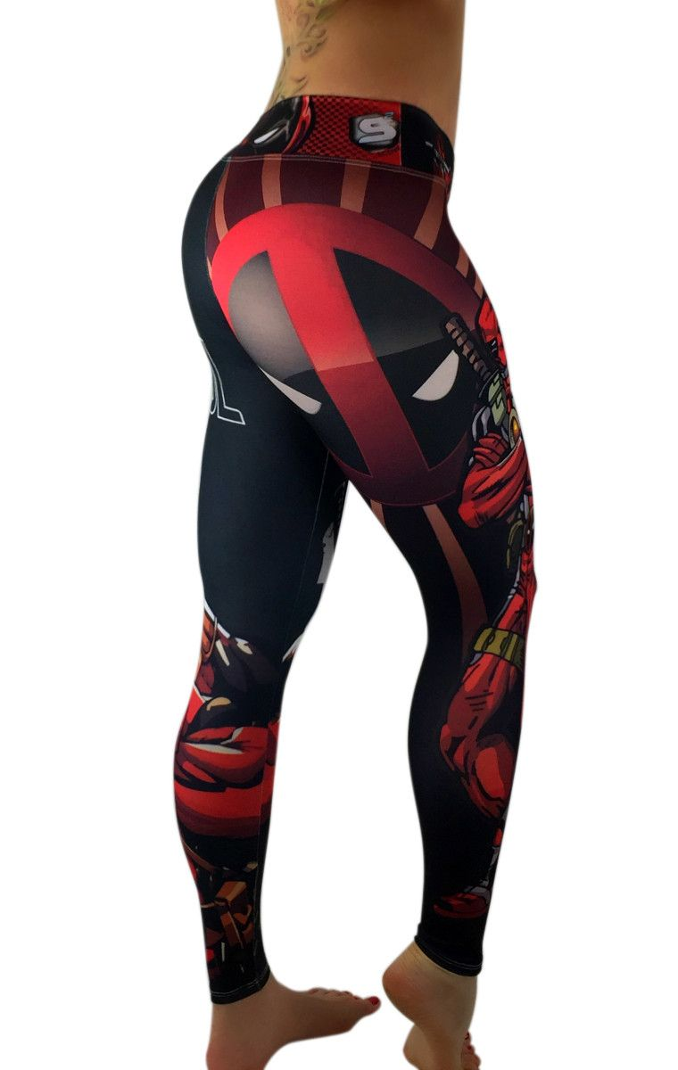 28045be1988 S2 Activewear - UNISEX Deadpool Leggings - Roni Taylor Fit