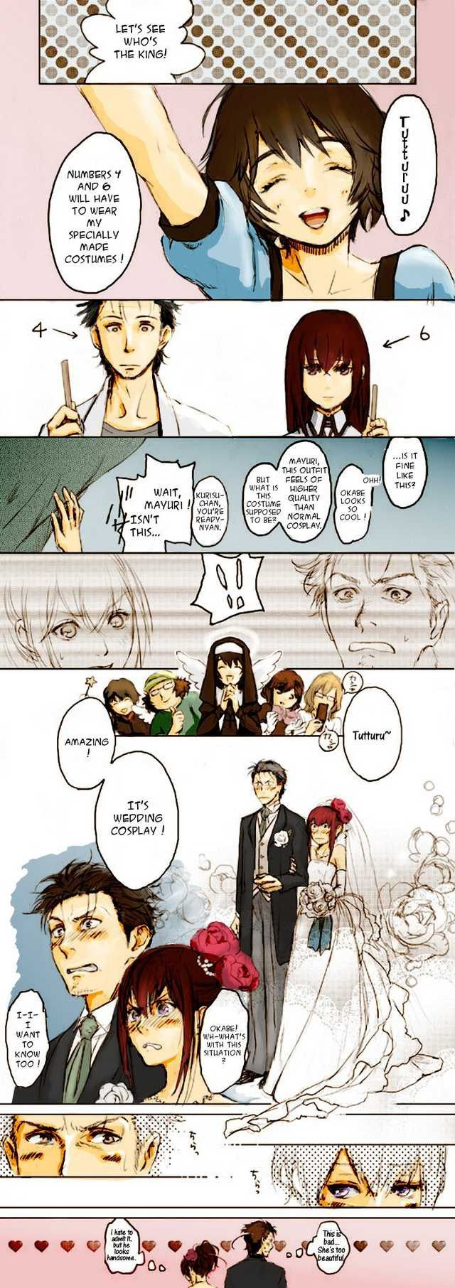 Wedding cosplay Anime, Steins gate 0, Anime funny