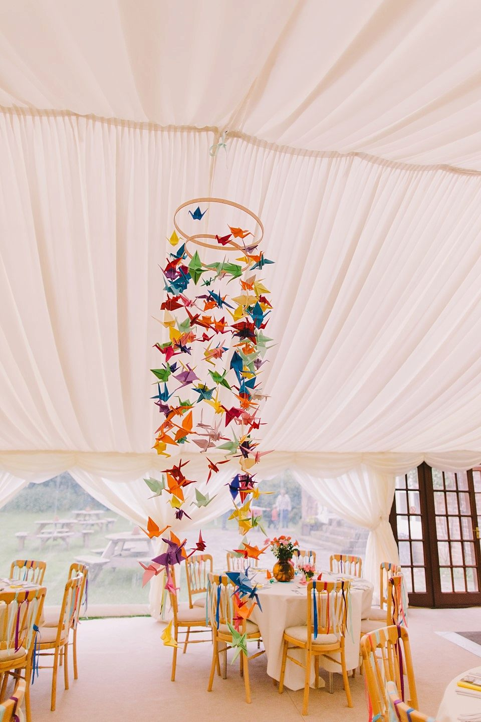 Photo of A Rainbow of Colours for a Woodland, Carnival Inspired Wedding   Love My Dress® UK Wedding Blog + Wedding Directory