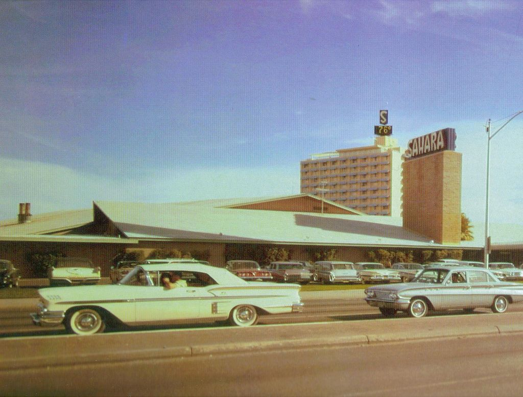 ✿❀Las Vegas strip in front of the Saraha, 1963.✿❀ | At home in ...